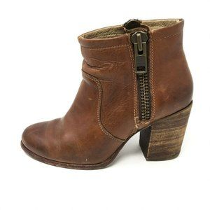 Hinge ADA Brown Leather Ankle Boots 6